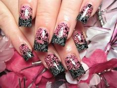 Lace nail art design - Rayanne