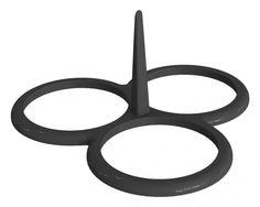Molde de silicona para tres blinis