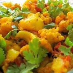 This is a traditional Indian cauliflower and potato curry recipe.