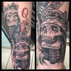king and queen skull tattoos - Google Search