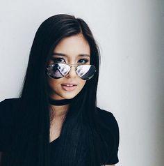 Gabi Garcia, Filipino Girl, Filipina Beauty, Woman Crush, Celebrity Crush, Cool Girl, Mirrored Sunglasses, Beautiful Pictures, Odd Future