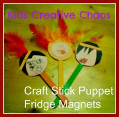 Thanksgiving: Turkey and  American Indian Craft Popsicle Sticks for Preschoolers