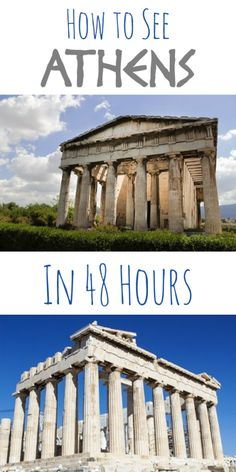 How to See Athens in 48 Hours. I love the architecture from Athens and Greece would be incredible to see. Greece Vacation, Greece Travel, Greece Honeymoon, Greece Trip, Greece Tourism, Greece Cruise, Greece Itinerary, Visit Greece, Oh The Places You'll Go