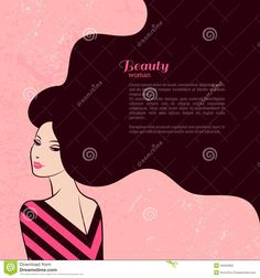 vintage-fashion-woman-long-hair-vector-illustration-stylish-design-beauty-salon-flyer-banner-girl-silhouette-cosmetics-49453602.jpg (1300×1390)