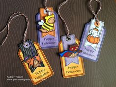 Lawn Fawn Critters in Costume Halloween Tags by momma_audrey, via Flickr