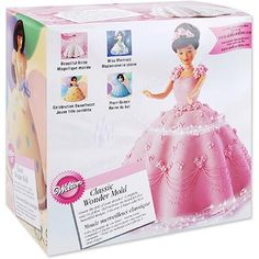 "LiteMF shopping! Wilton 8""x5"" Classic Wonder Mold, Doll Dress 2105-565 - Walmart.com"