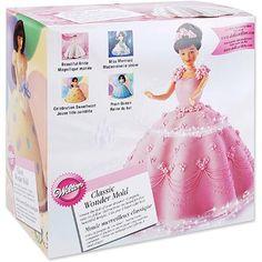 "LiteMF shopping! Wilton 8""x5"" Classic Wonder Mold, Doll Dress 2105-565 - Walmart.com"