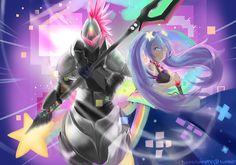 Arcade Hecarim & Arcade Sona <3 fanart : League of Legends : LoL