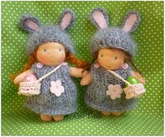 5 inch Waldorf doll,Easter Bunny by Rusi Dolls - $50.00
