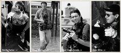 Galería de fotos. Los cuatro miembros del Bang-Bang Club: Kevin Carter, Greg Marinovich, Ken Ooterbroek y Joao Silva. Más información en http://www.thebangbangclub.com/photographers.html y una pequeña selección de sus fotos, advertimos de su extrema dureza, en http://www.abc.es/fotos-historia/20130627/bang-bang-club-fotografos-122993.html #Apartheid