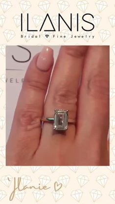 3.40 Ct Emerald Cut Engagement Ring, Lab grown Diamond Engagement ring, 14K Gold Double Band ring, Certified Lab created Diamond simulant | All of our lab created diamonds come with IGI Diamond Certificates. Contact us for other options, sizes, or natural 100% conflict free diamonds. Our operations are in line with the provisions laid down by the Kimberley Process. #jewelry #diamonds #rings #ilanisdiamonds Great Wedding Gifts, Great Gifts, Wedding Ideas, Emerald Cut Engagement, Diamond Engagement Rings, Diamond Simulant, Lab Created Diamonds, Conflict Free Diamonds, Christian Gifts