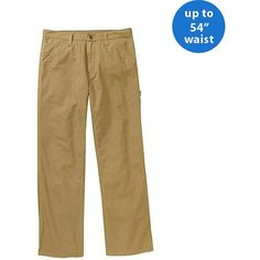 Faded Glory Big Men's Canvas Utility Pant, Size: 54 x 32, Beige