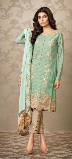 The Sobia Nazir new Silk Chiffon embroidered un-stitched collection comes out on September and the designer has quite simply outdone her self with the design quality. Pakistani Couture, Pakistani Outfits, Indian Outfits, Pakistani Clothing, Eid Dresses, Indian Dresses, Pakistan Fashion, Desi Clothes, Sari