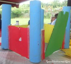 Manualidades con mis hijas. Castillo con tubos de cartón. Kids craft. Castle with Toilet Paper