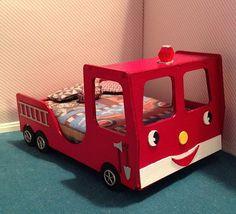 Dollhouse Miniature Doll Firetruck bed #dolls #firetruck #fireman #bed #kids #room