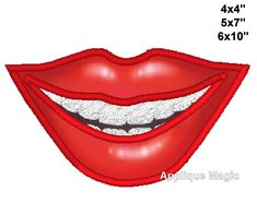 Smile Face Mask Face Cover Lips Smile Cute Face Cover for Machine Embroidery Patterns, Embroidery Applique, Machine Applique, Cute Faces, Funny Faces, Applique Designs, Embroidery Designs, Cartoon Mouths, Machine Design
