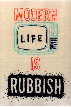 """by ballad-for-a-friend """" This was one of my pieces for my final major project at college. Based on the album 'Modern Life Is Rubbish' by Blur :) """""""