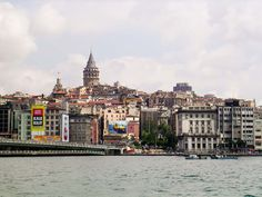 Bridge in Istanbul from Asia to Europe, across the Bosphorus River