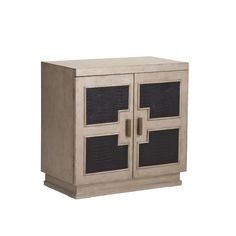 Burnished Geometric Panel Door Chest