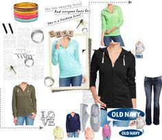 """Old Navy Tee Hoodie in any colour you want"" by kitty-wasch on Polyvore"