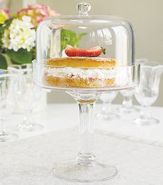 Tall Glass Cake Stand - Not on the Highstreet