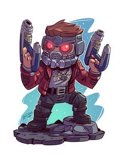 Chibi starloard is so awesome. If you want more such awesome pins visit my board Chibi. Chibi Marvel, Marvel Art, Marvel Dc Comics, Marvel Heroes, Chibi Superhero, Baby Marvel, Thanos Avengers, Avengers Cartoon, Marvel Cartoons