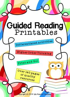 Now with 140+ pages, this packet contains ready-to-go printables to engage your students during guided reading. Each activity is differentiated (high, middle, low) to meet the needs of your class and may be used with ANY books.