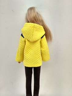 Yellow jacket by BarbieClothBoutique on Etsy