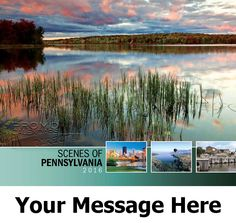 2016 Scenes of Pennsylvania - US Scenic - Promotional Calendar Cover. Imprinted with your Business, Organization or Event Name and Logo As Low As 65¢.