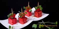 Watermelon and Tomato Skewers Recipe (Xiên Dưa Hấu Cà Chua) from www.vietnamesefood.com.vn