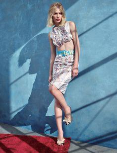 Blue Afternoon: Aline Weber by Choi Yongbin for Harper's Bazaar Korea April 2015
