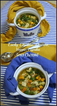 Lucky Chicken, Quinoa, Veggie,Paprika Soup Chopped  The Kitchen Chopper