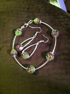 Bracelet and earrings