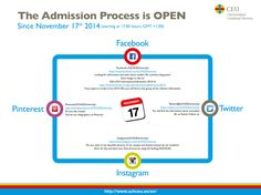 Our Admission Process for the year 2015/16 is now OPEN! Proceed to our website for further information and follow our freshmen group on Facebook!