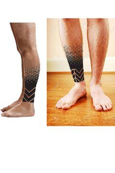 mock up???? Geometric Mandala Tattoo, Geometric Tattoos Men, Tribal Tattoos For Men, Geometric Tattoo Design, Mandala Tattoo Design, Tattoos For Guys, Tattoo Designs, Tribal Forearm Tattoos, Calf Tattoo