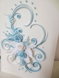 quilling card for baptism