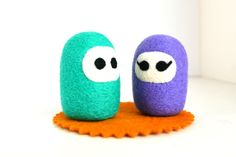 Needle Felted Pair of Boy and Girl NinjasNatural Toy by ThingsByV, $16.00