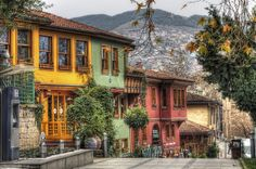 Yesil neighborhood of Bursa, Turkey.
