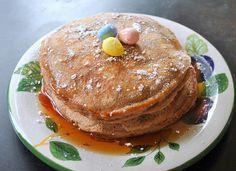 Chocolate milk pancakes.