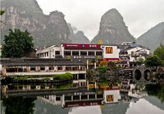 Supposedly the most picturesque McDonald's in the world ~ Yangshuo, China