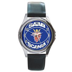 Leatherband Saab Scania Logo Watch by hwandikaiko on Etsy