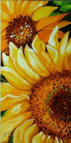 Having the power to turn a plain white canvas into something colorful, something amazing with Easy and Beautiful Canvas Painting Ideas for Beginners to Try. Watercolor Flowers, Watercolor Paintings, Easy Watercolor, Watercolor Sunflower, Drawing Flowers, Canvas Paintings, Sunflower Art, Sunflower Paintings, Paintings Of Sunflowers