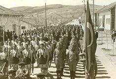 Samsun,Ladik Akpınar Köy Enstitüsünde bir tören. Fotoğraf: Hasan Yasin Dönmez Albümü