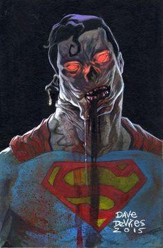 #Superman #Fan #Art. (Zombie Superman) By: Dave DeVries. (THE * 5 * STÅR * ÅWARD * OF: * AW YEAH, IT'S MAJOR ÅWESOMENESS!!!™)[THANK U 4 PINNING!!!<·><]<©>ÅÅÅ+(OB4E)