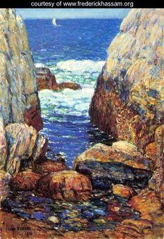 Sea and Rocks, Appledore, Isles of Shoals - Frederick Childe Hassam - www.frederickhassam.org