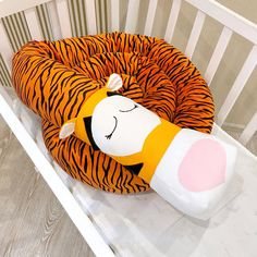 Baby crib bumper TIGER Pillow Handmade, Bolster Pillow, Baby Bed Bumper, Baby Shower Present Baby Cot Bumper, Baby Crib Bumpers, Baby Cribs, Bolster Pillow, Baby Pillows, Crib Wall, Wooden Cribs, Toddler Sleep, Safari Nursery