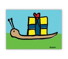 Geburtstagskarte mit Geschenke Schnecke - http://www.1agrusskarten.de/shop/geburtstagskarte-mit-geschenke-schnecke/    00015_0_909, Comic, Geburtstags Blumen, Gratulation, Grußkarte, Gruss, Klappkarte, Schnecke, Tiere00015_0_909, Comic, Geburtstags Blumen, Gratulation, Grußkarte, Gruss, Klappkarte, Schnecke, Tiere