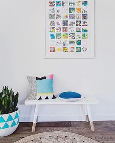 "Michelle Hart on Instagram: ""I love how versatile the @greencathedral Babanees bench really is, with so many uses for it around your home, changing it up from room to room is super easy. This image was taken from a product shoot for @artrooms_australia and features some fabulous Aussie brands amongst the mix. Just tap for details!! Photo credit @suziappel_photo, styling by me"""