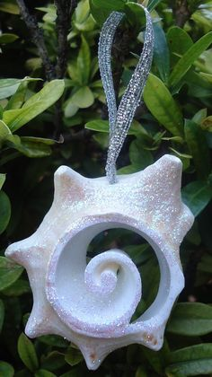 Seashell Christmas Ornament  Small  Gold or Silver  by RumCay
