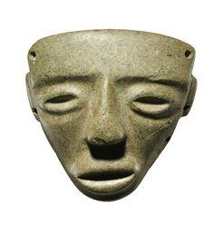 Maschera antropomorfa, Cultura pre-Teotihuacan, Stato di Guerrero, Messico Preclassico recente, 400-100 a.C. Venezia, Collezione Ligabue.